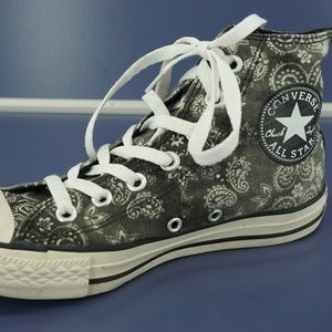 Chuck Conners All Star High Top Sneakers Paisley